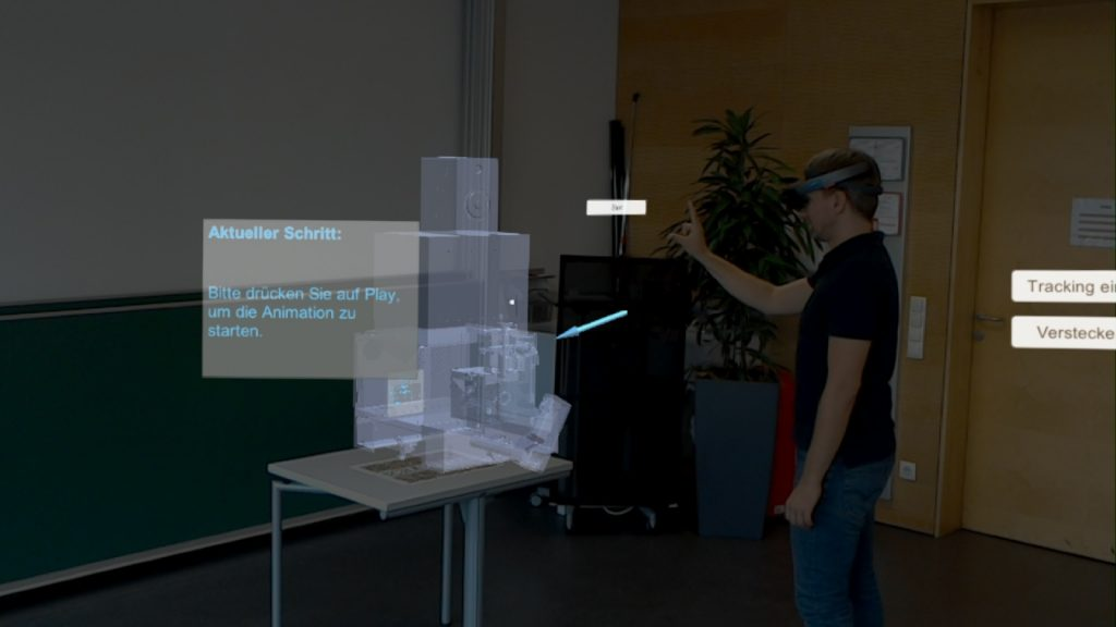 HoloLens Application to support workers deployed at